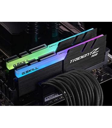 رم دسکتاپ DDR4 دو کاناله 3200 مگاهرتز CL16 جی اسکیل سری TRIDENT Z RGB ظرفیت 16 گیگابایت