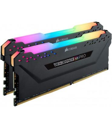 رم دسکتاپ کورسیر مدل VENGEANCE RGB PRO Black دو کاناله DDR4 فرکانس 3000 مگاهرتز حافظه 16 گیگابایت CL 15