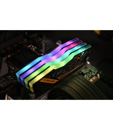 رم کامپیوتر DDR4 دو کاناله 3200 مگاهرتز CL16 تیم گروپ مدل DELTA TUF ظرفیت 16 گیگابایت