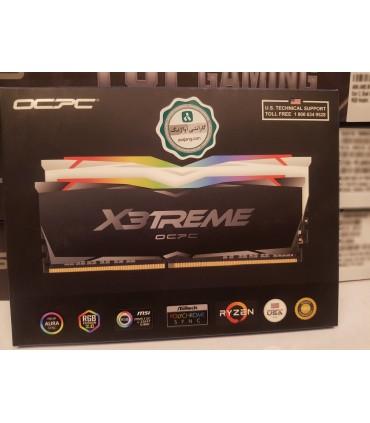 رم کامپیوتر او سی پی سی مدل X3 RGB Black DDR4 با حافظه 16 گیگابایت و فرکانس 3200 مگاهرتز