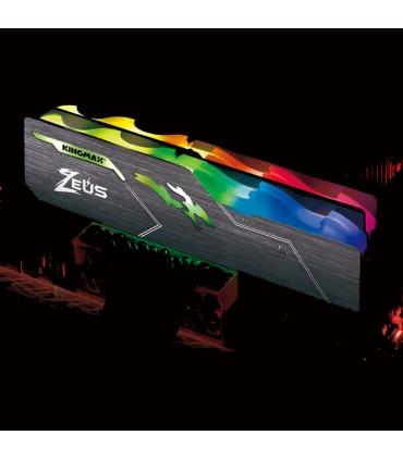 رم دسکتاپ DDR4 تک کاناله 3200 مگاهرتز CL17 کینگ مکس مدل Zeus Dragon RGB ظرفیت 8 گیگابایت
