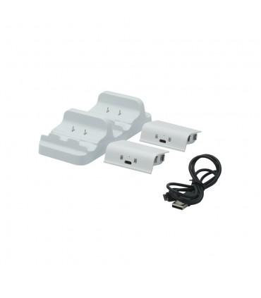 پایه شارژر دسته Dobe Dual Charging Dock 2 Batteries xbox one white